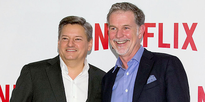 Netflix co-founder Reed Hastings and Chief Content Officer Ted Sarandos 01.