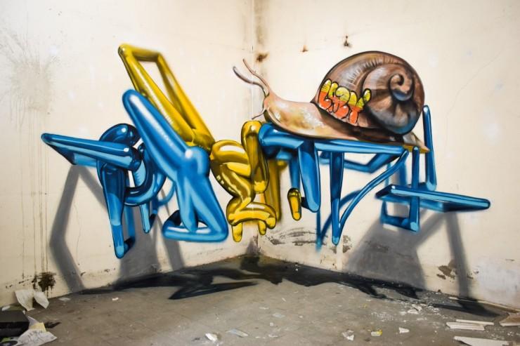 Sergio Odeith's Anamorphic 3D Graffiti Letters 23.
