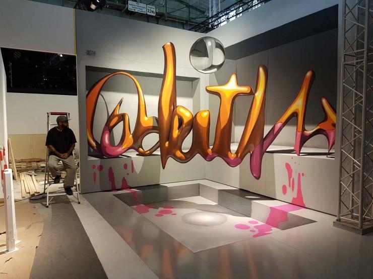 Sergio Odeith's Anamorphic 3D Graffiti Letters 24.