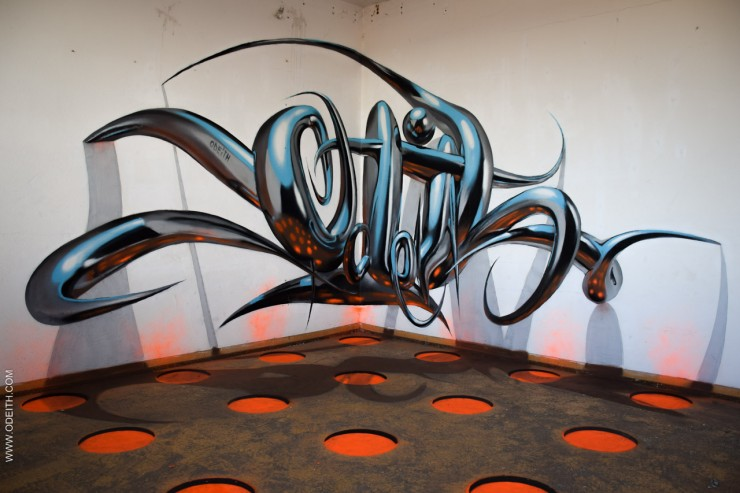 Sergio Odeith's Anamorphic 3D Graffiti Letters 26.