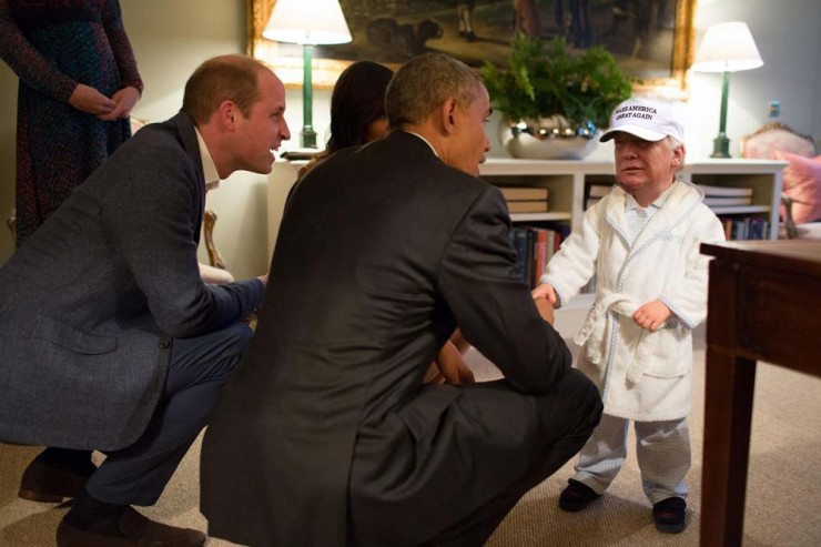 Tiny Trump Memes shrink Donald Trump to the size of a Child 05.