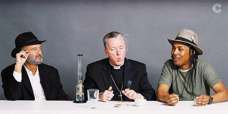 A Rabbi, a Priest and a Gay Atheist Amoke Weed and Get Stoned Together.