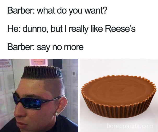 say no more haircut meme.