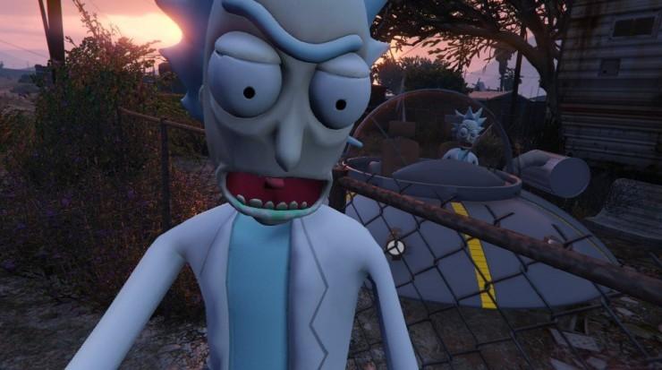 Rick and Morty GTA V Mod 02.
