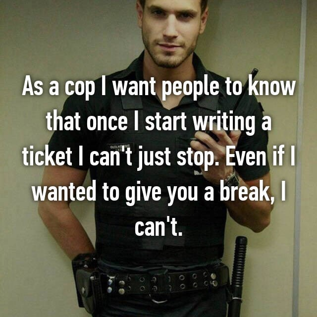 police officer confessions 10.