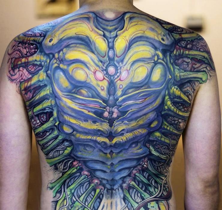 Biomechanical Tattoo Designs 01.