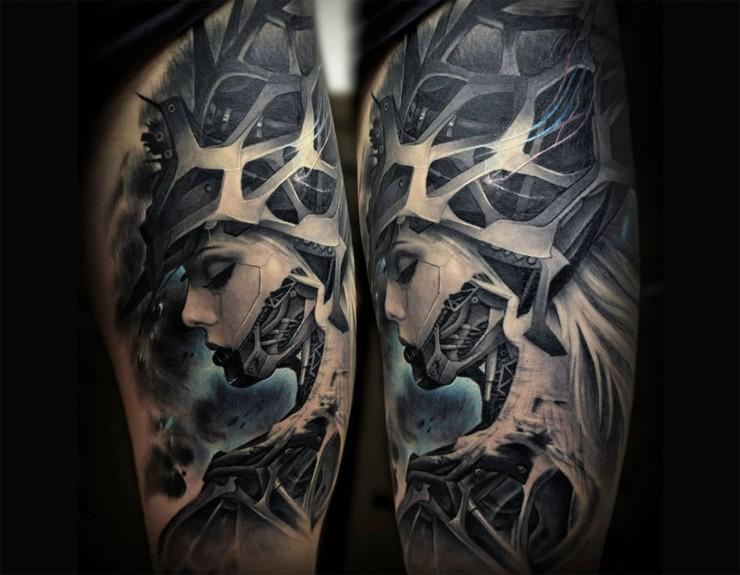 Biomechanical Tattoo Designs 04.