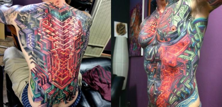 Biomechanical Tattoo Designs 06.