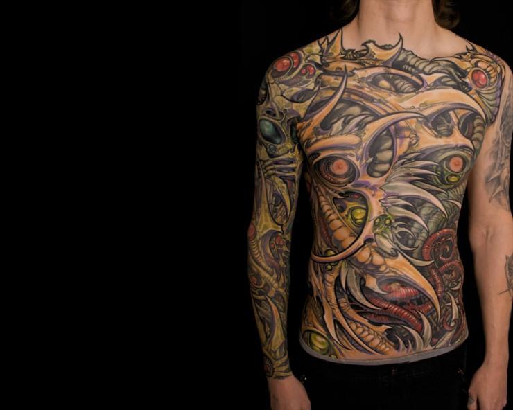 Biomechanical Tattoo Designs 08.
