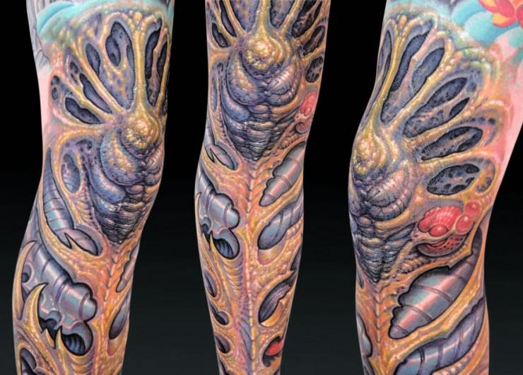 Biomechanical Tattoo Designs 09.