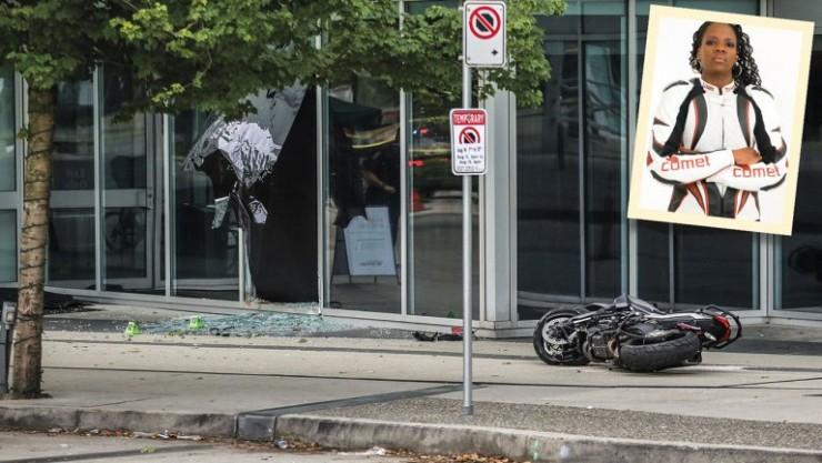 deadpool 2 motorcyle crash