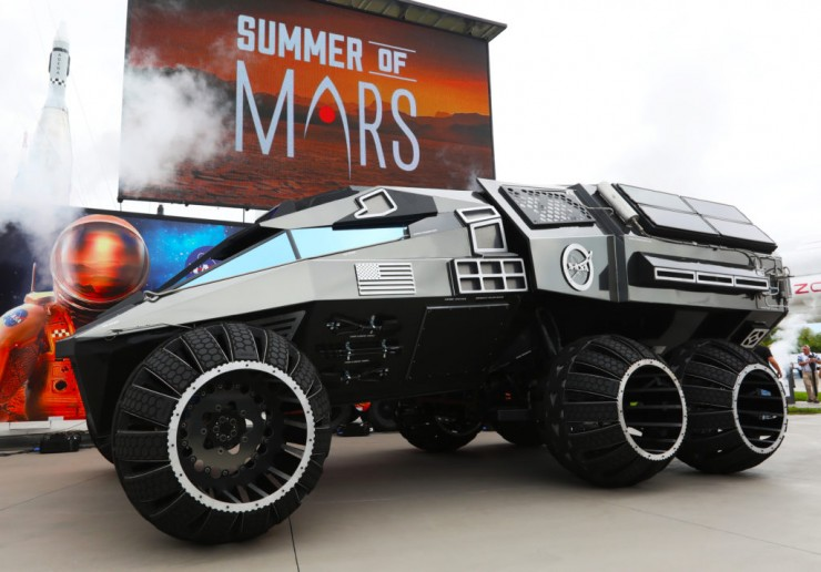Mars Rover Concept Vehicle.