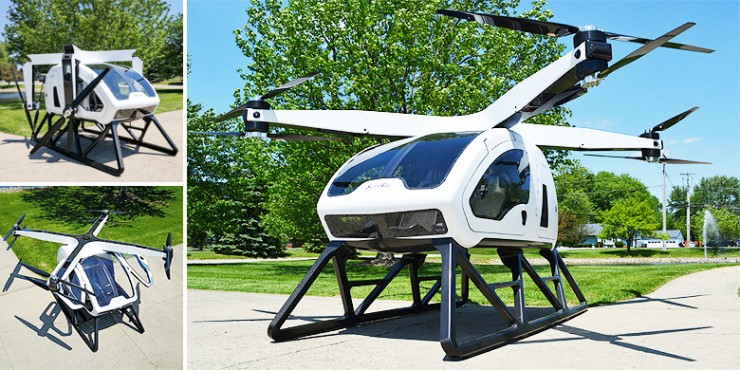 Workhorse SureFly Personal Helicopter.