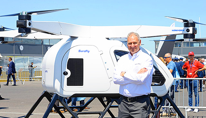 workhorse surefly personal helicopter Steve Burns.
