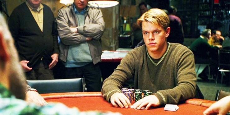Celebrity Poker Players Matt Damon.
