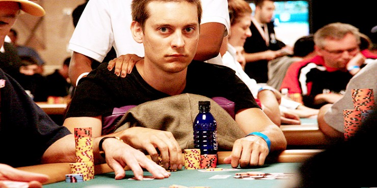Celebrity Poker Players Tobey Maguire.