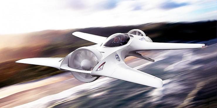 DeLorean DR-7 VTOL Aircraft flying car.