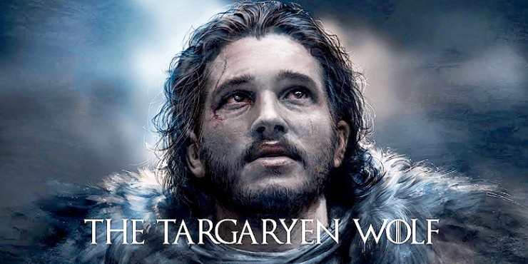 Jon Snow The Targaryen Wolf Game of Thrones.