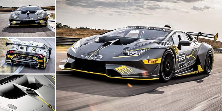 The Lamborghini Huracan Super Trofeo Evo.