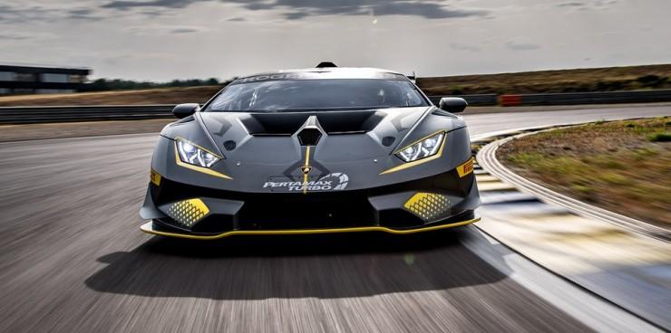 The Lamborghini Huracan Super Trofeo Evo 22.