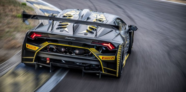 The Lamborghini Huracan Super Trofeo Evo 23.
