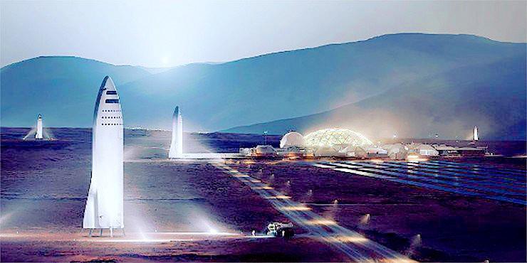 Elon Musk New SpaceX Mars BFR Rocket.