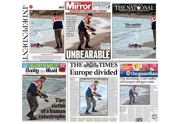 Press Headlines Of Alan kurdi.