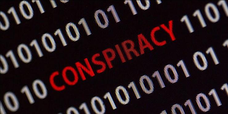 Social media conspiracies in politics.